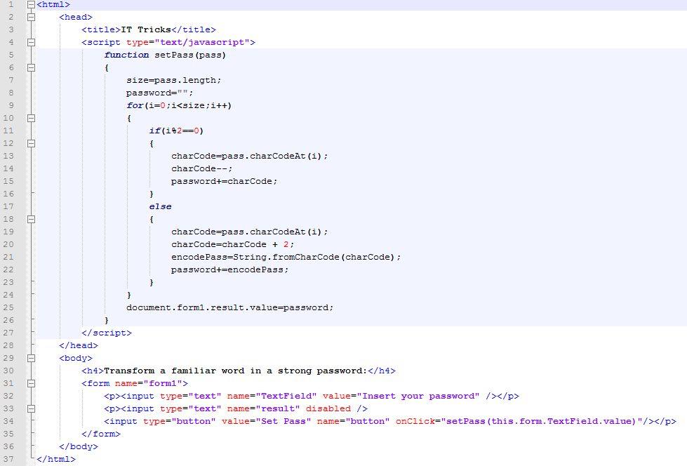 Password Generator (JavaScript example) | i4MK