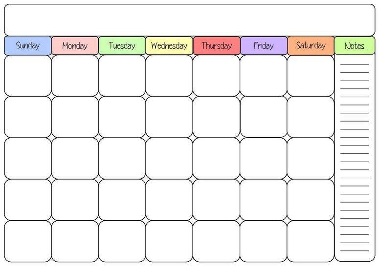 Blank Calendar 2016 | weekly calendar template