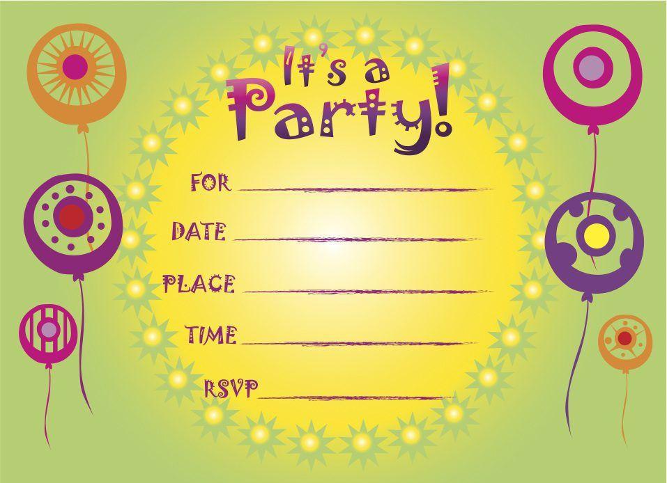 Free Birthday Invitations | Birthday Party Invitations