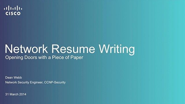 How to Write a Resume for a Network Engineer - The Cisco Learning ...