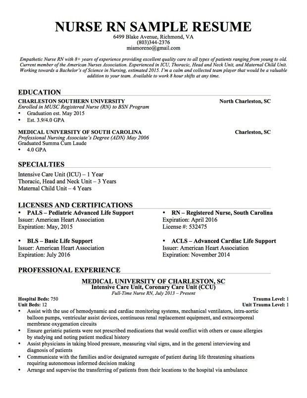 rn cover letter resume cv cover letter. sample resume for nurses ...