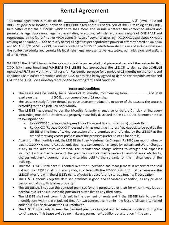 5+ house rent agreement format in word | hostess resume