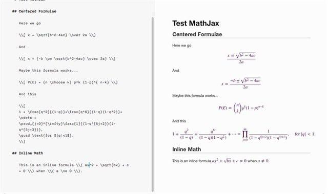 MathJax in Markdown - Hiltmon