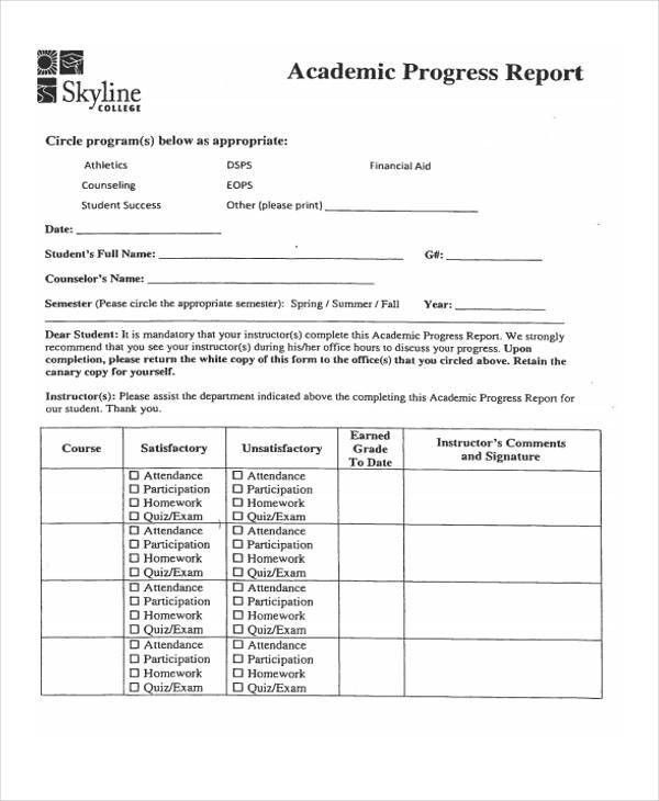 7+ Academic Report Templates - Free Word, PDF Format Download ...