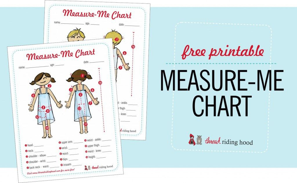 Kids' Measurement Chart Printable, Big News and some Winners ...