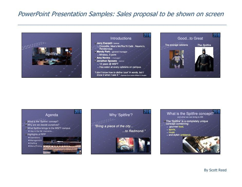 Power Point Presentation Samples Sales Proposal