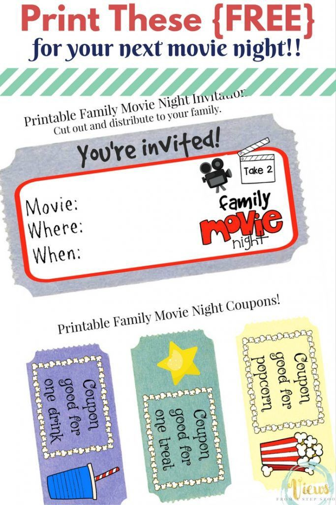 Host a Movie Night Your Kids Will Love! Plus Free Printable ...
