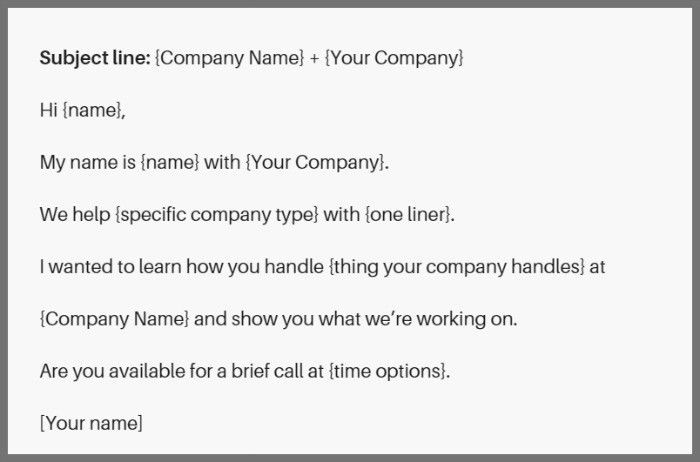 11 awesome cold email templates and why they work | LeadGibbon