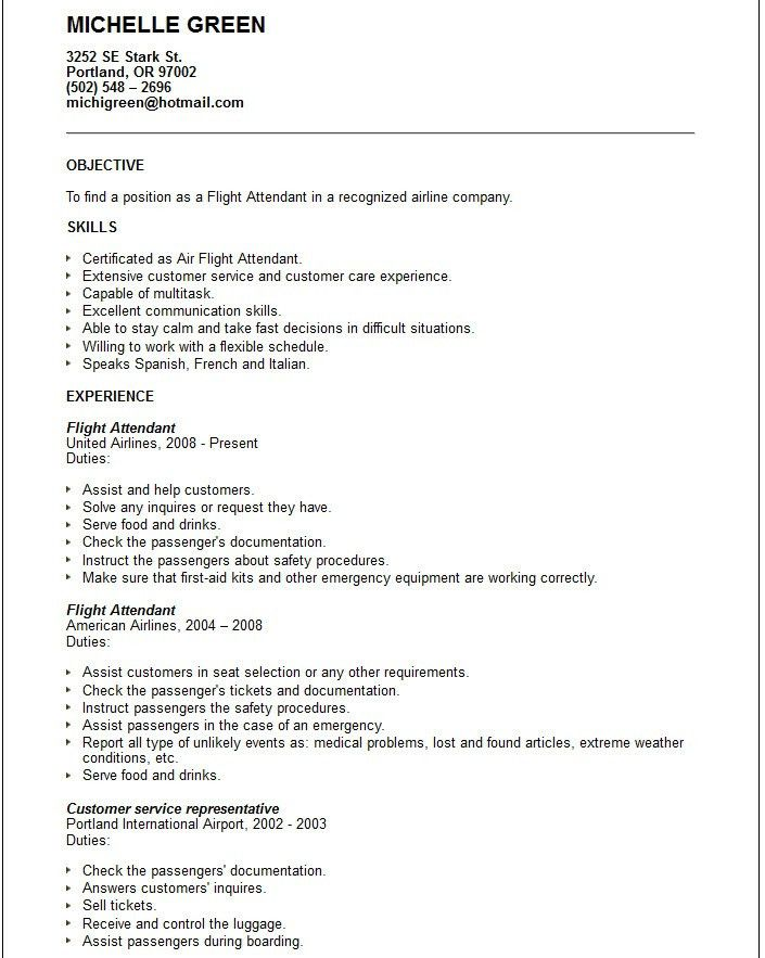 flight attendant job description flight attendant job description