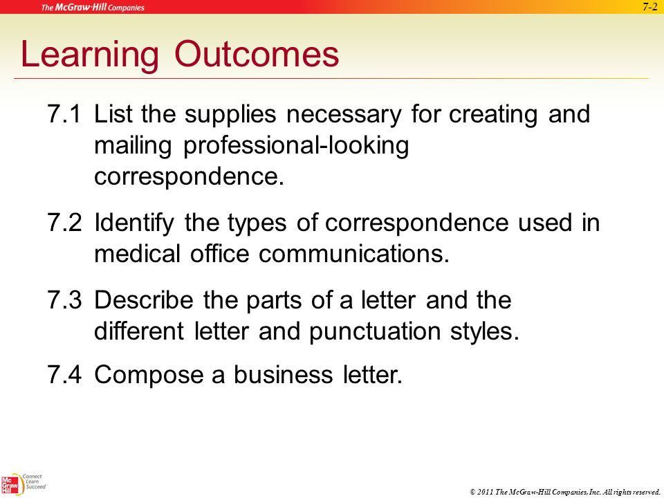 Managing Correspondence and Mail - ppt download