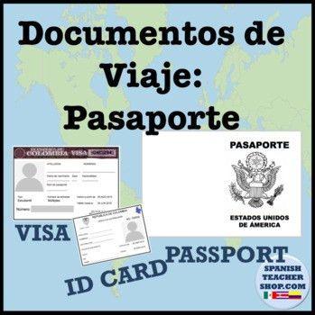 Spanish Passport Template and Visa by SpanishPlans | TpT