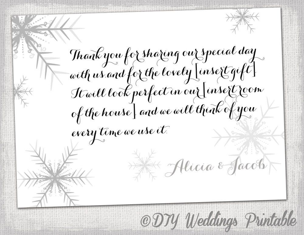 Snowflake thank you card template Snowflake winter