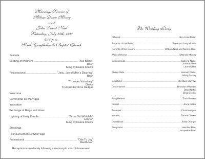 Fan Wedding Programs Template   Wedding Decorating: wedding ...