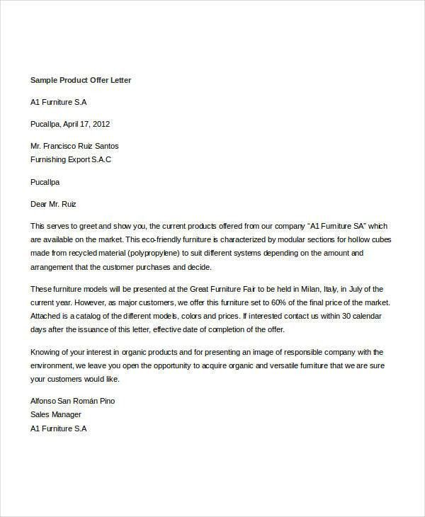 Offer Letter Templates in Doc - 58+ Free Word, PDF Documents ...