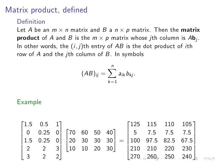 Lesson03 Dot Product And Matrix Multiplication Slides Notes
