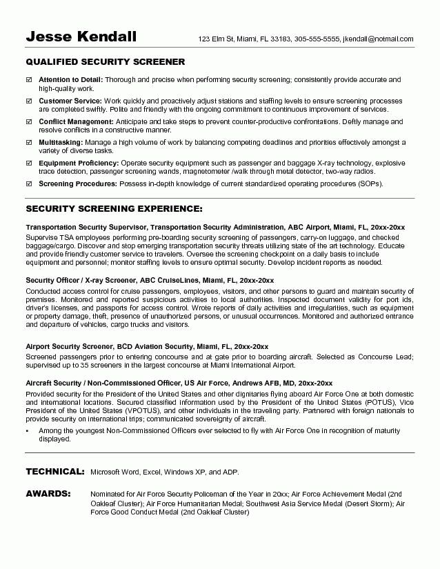 Best Security Guard Resume Sample 2016 | Resume Samples 2017
