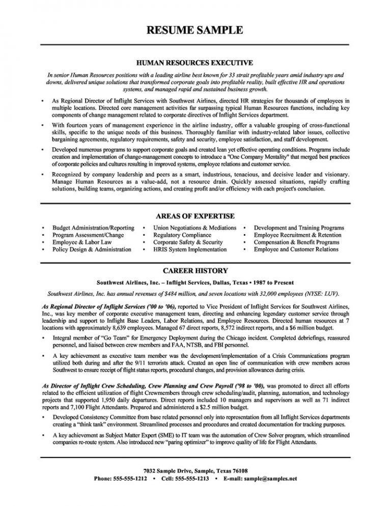 hr resume objective 165 old version resume examples entry level