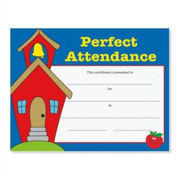Perfect Attendance Award Casual Certificates | PaperDirect