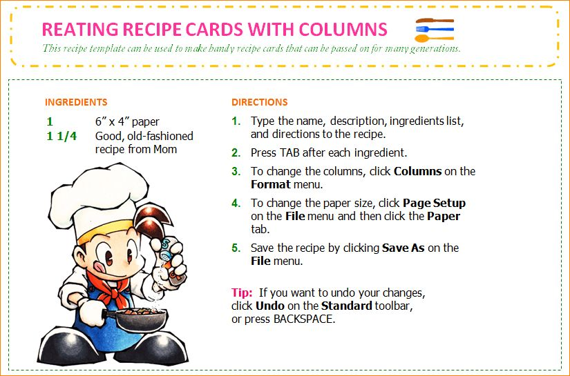 7+ word recipe template | Outline Templates