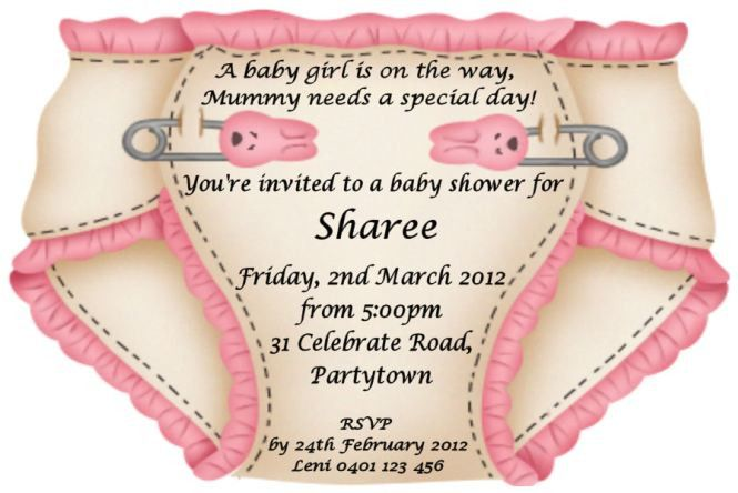 Baby Shower Invitation Wording Samples | PaperInvite