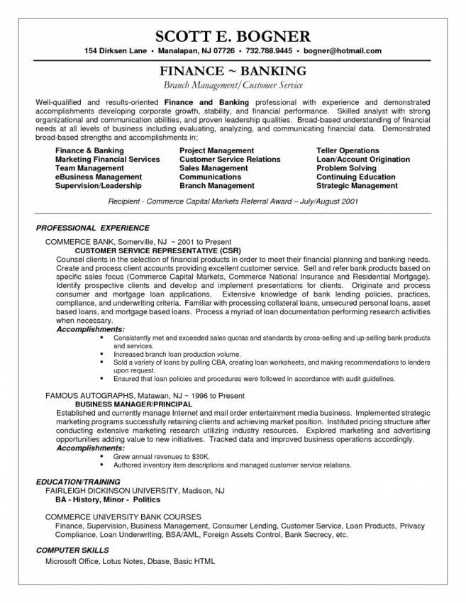 Download Banking Customer Service Sample Resume ...