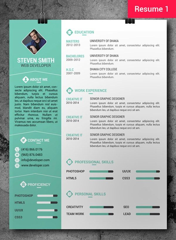 Free Professional Resume/CV Template + Cover Letter #freebie ...