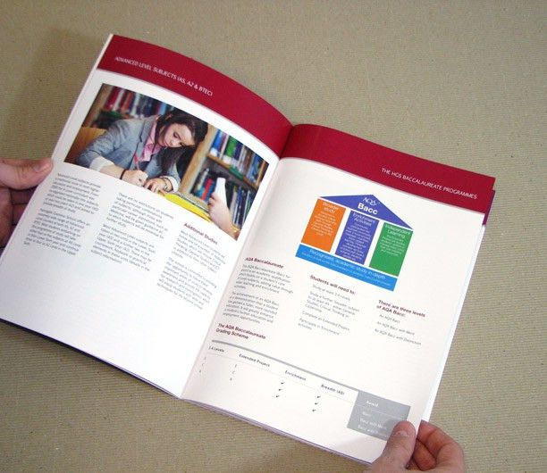 Harrogate Grammar School - sixth form prospectus design with ...