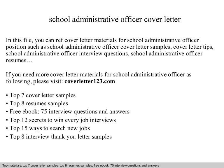 School administrative officer cover letter