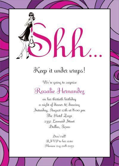 Surprise Party Invitation Wording | badbrya.com