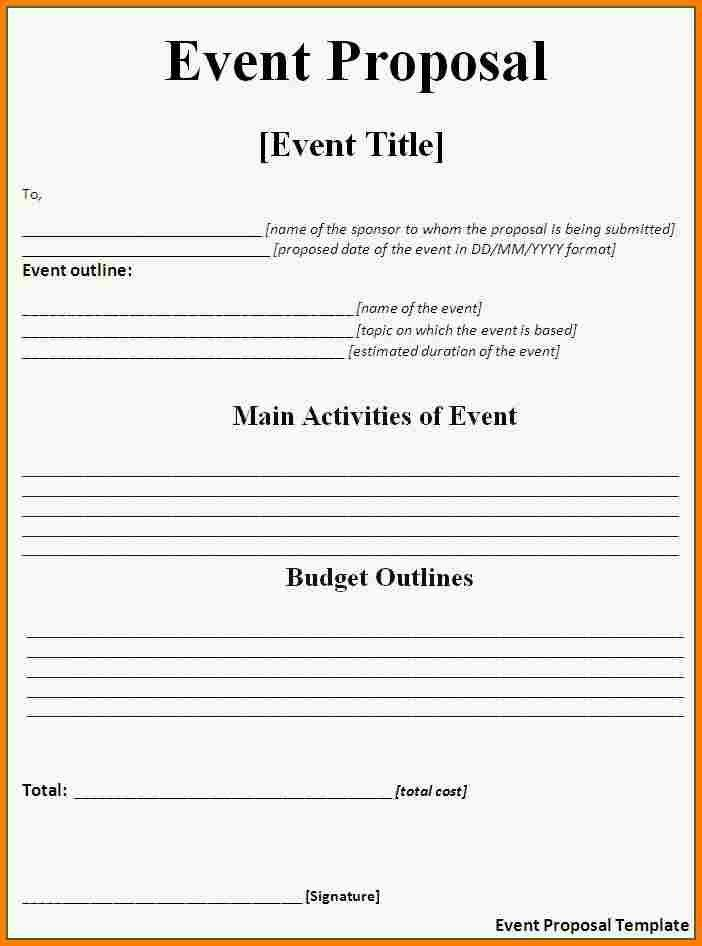 9+ event planning proposal sample | Proposal Template 2017