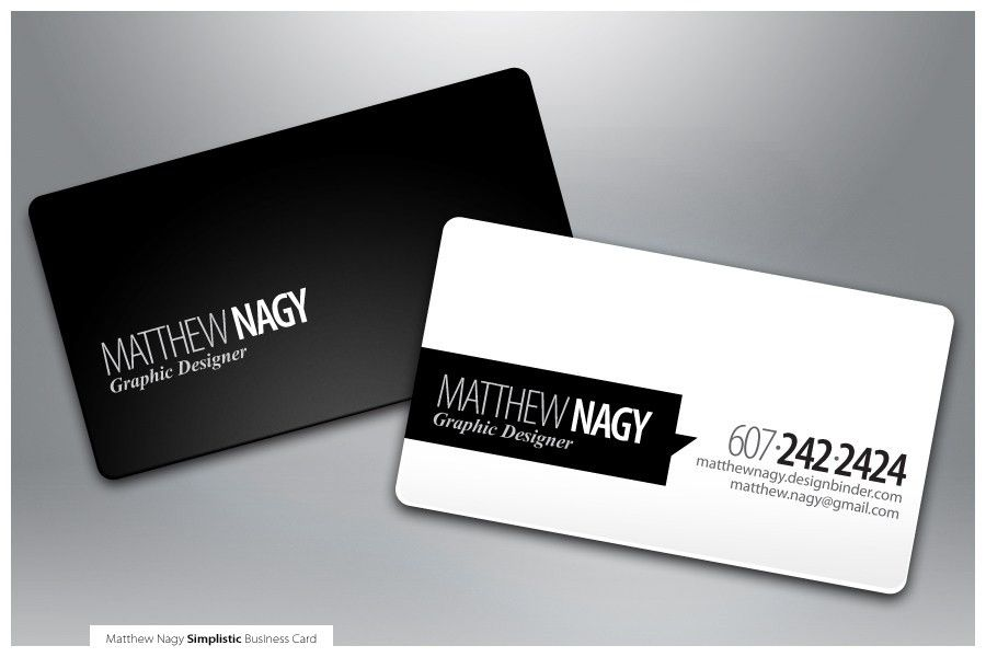 Minimal black & white business card design, with great typography ...
