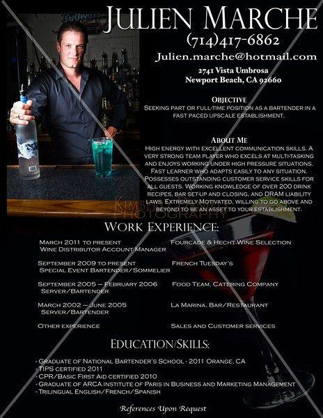 Bartender Resume Sample [Srpa.co ]