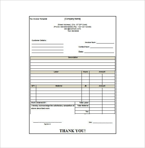 Invoice Receipt Template Word | invoice example