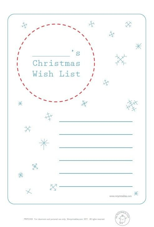 5 Free Holiday Wish List Templates – Stationery Templates