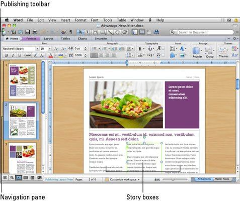 Using the Publishing Layout View in Word for Mac 2011 - dummies