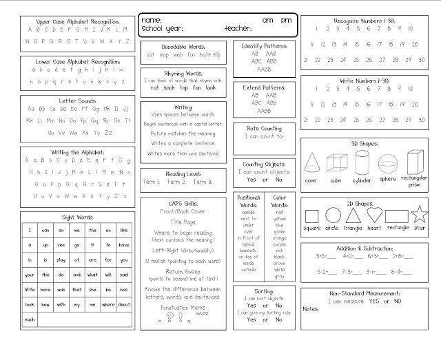 25+ best Preschool assessment forms ideas on Pinterest | Preschool ...