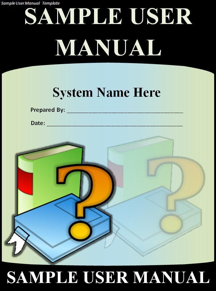 User Manual Template - Word Excel PDF