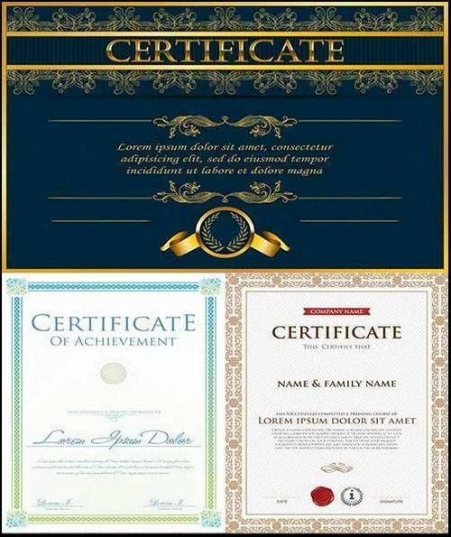 Certificate Templates vector 20 Eps - Free download