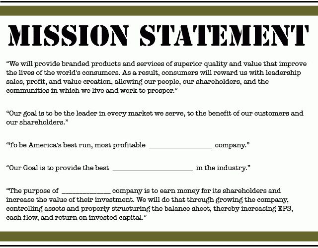 Mission statements are nonsense. Competitive positioning wins!