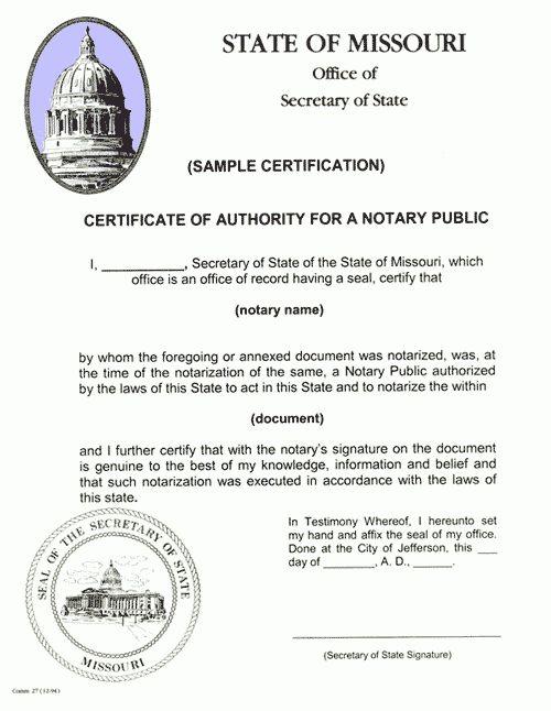 Certification, Authentication, & Apostilles