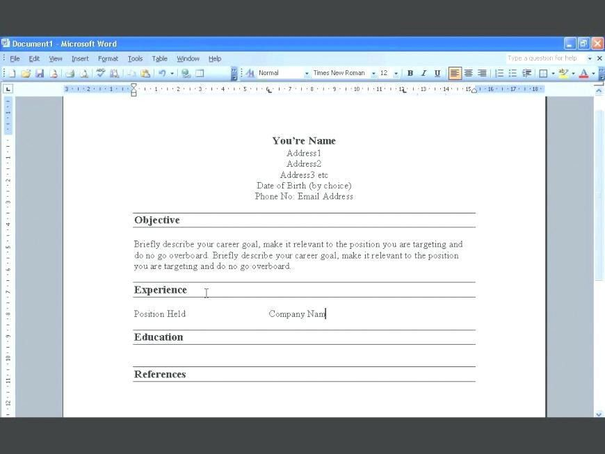 Make Resume Microsoft Word 2008. how to create a resume in ...