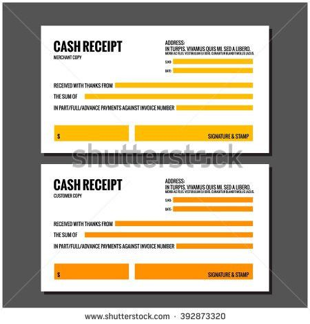 Cash Receipt Design Template Stock Vector 392873323 - Shutterstock
