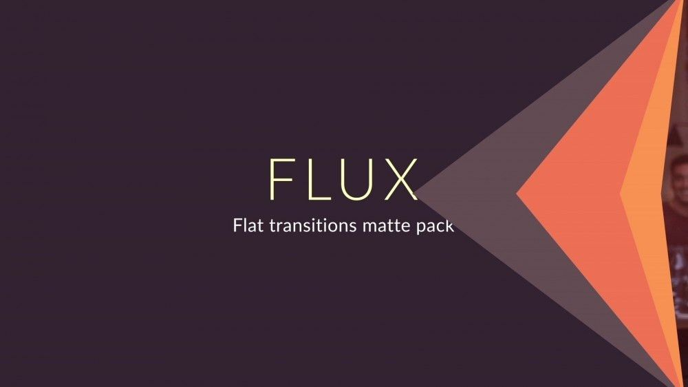 Flux: Flat Transition Matte Pack - After Effects Template