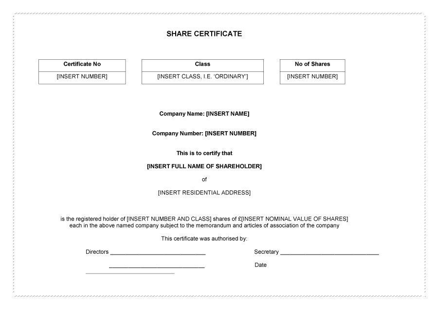 Shareholders certificate template share stock certificate 40 free stock certificate templates word pdf template lab yadclub Choice Image
