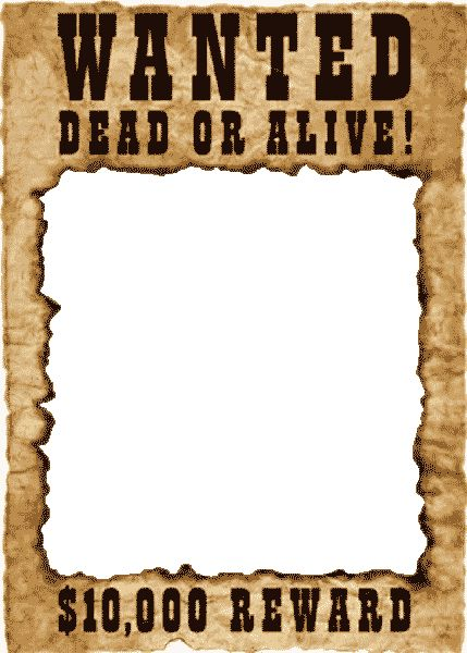 Wanted poster template online free