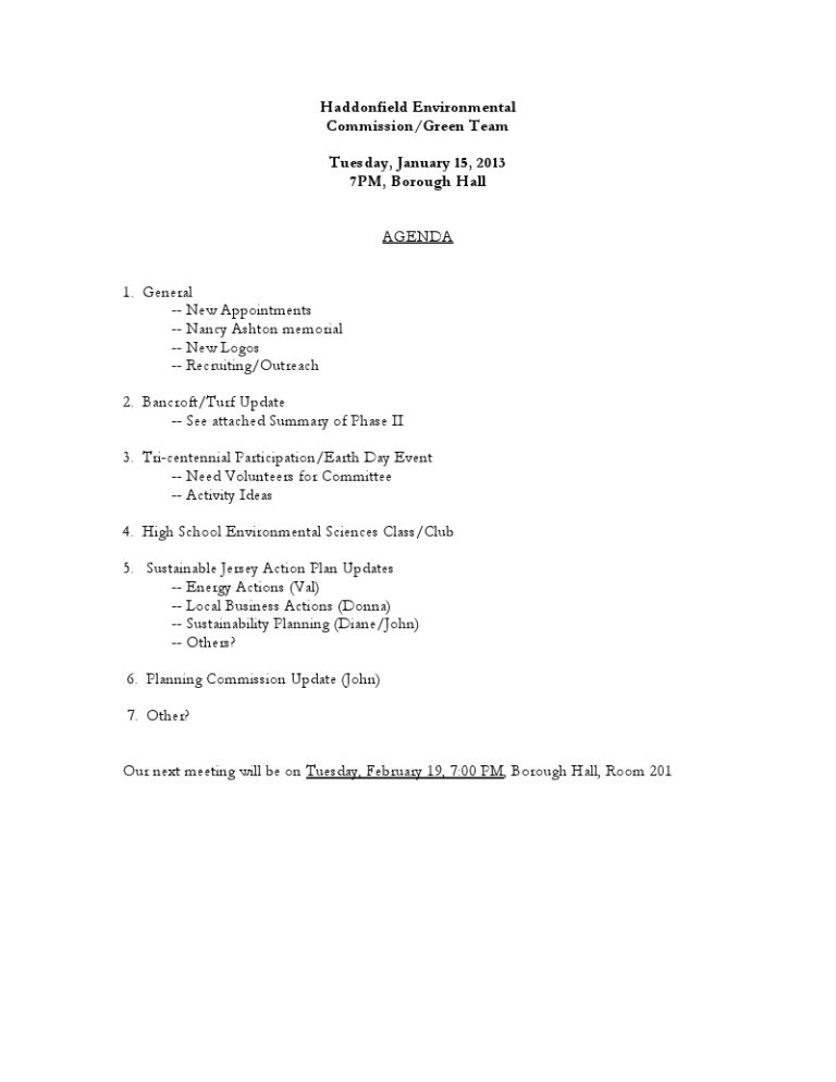 Non Profit Board Meeting Agenda Template (3) | Best Agenda Templates