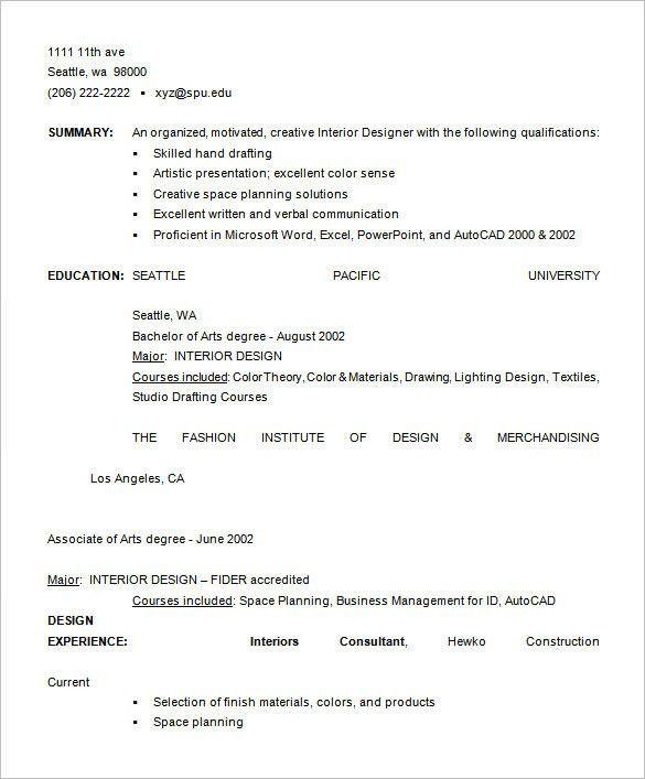 fashion designer resume sample free download old version old ...