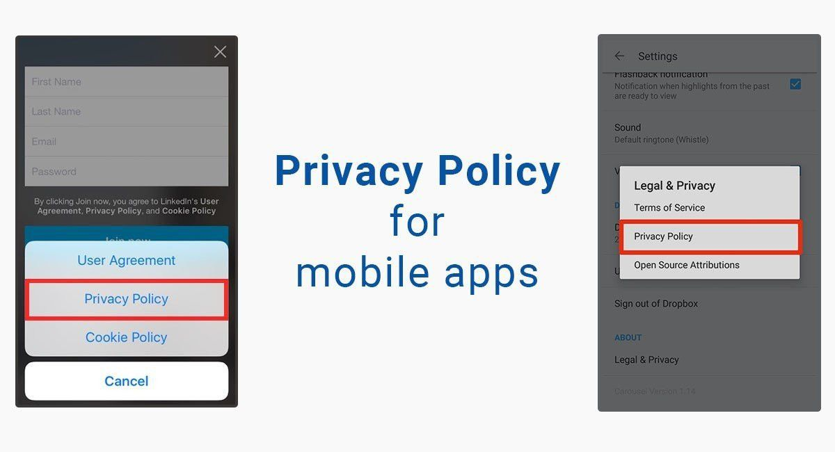 Privacy policy template sample privacy policy template termsfeed privacy policy for mobile apps termsfeed pronofoot35fo Image collections