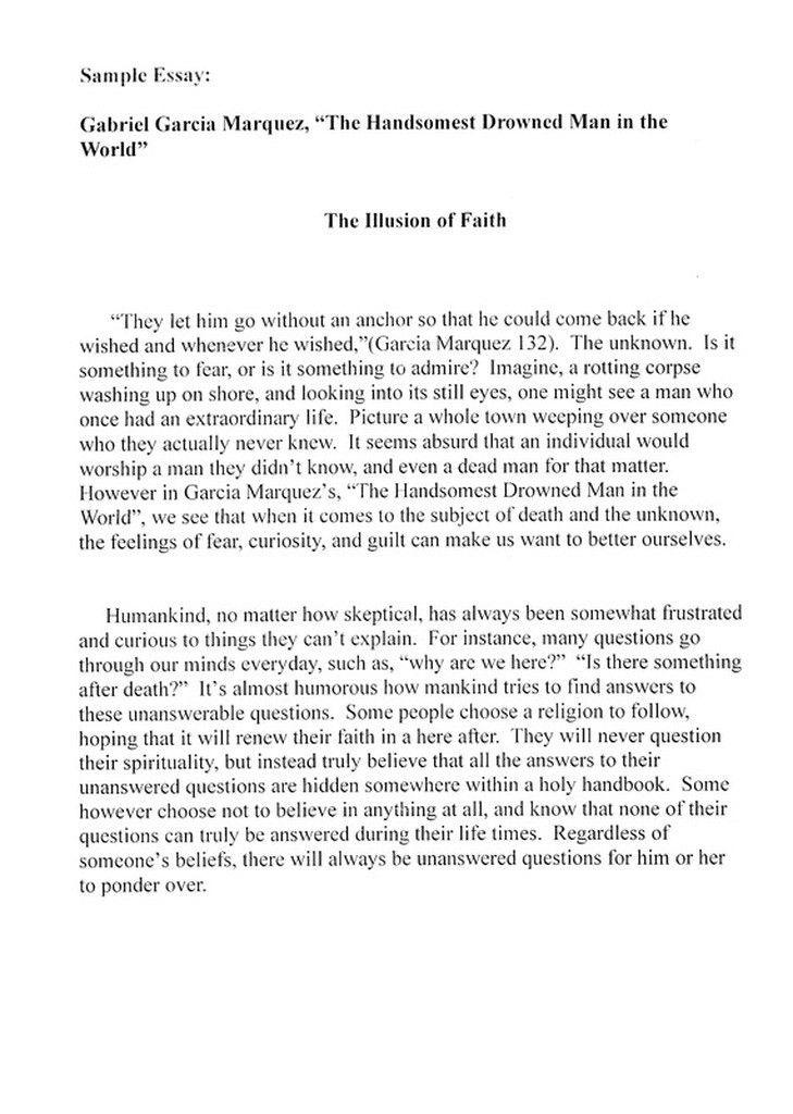 reflection english essay examples