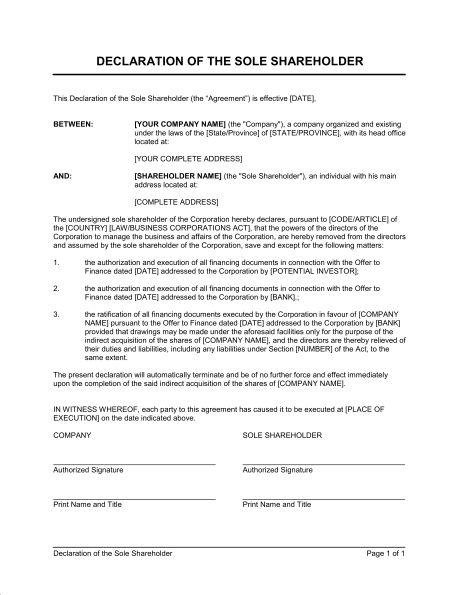 Declaration of Doing Business - Template & Sample Form   Biztree.com
